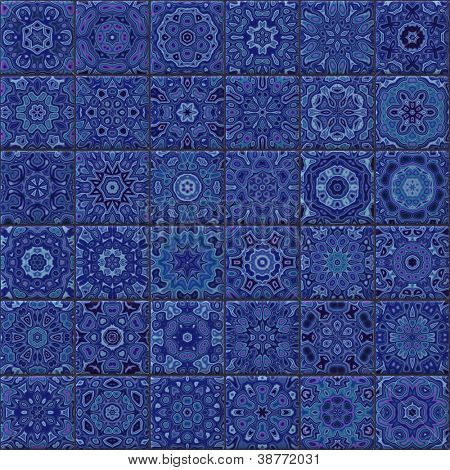 Seamless ornamental tiles