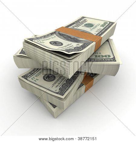 Viele Stapel von hundert-Dollar-Scheine