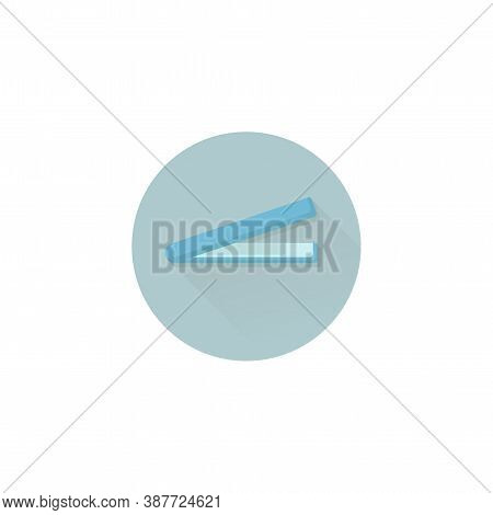 Straightening Forceps Colorful Vector Flat Icon With Long Shadow