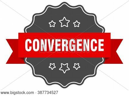 Convergence Label. Convergence Isolated Seal. Sticker. Sign