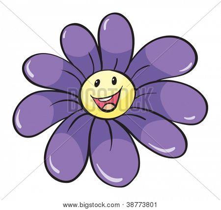 illustration of flower on white background