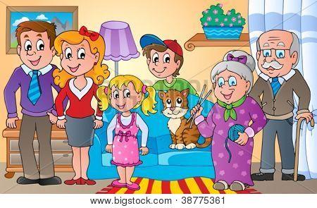 Family theme image 2 - vector illustration.