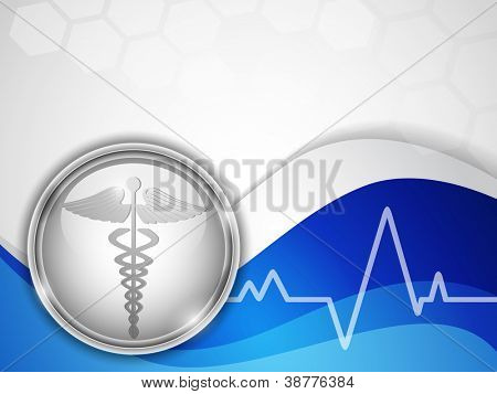 Abstract medical background with caduceus medical symbol. EPS 10.