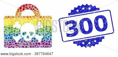 Rainbow Vibrant Vector Mortal Case Collage For Lgbt, And 300 Corroded Rosette Seal Imitation. Blue S