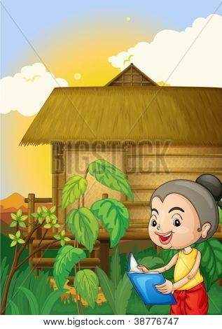 Illustration of a thai scene
