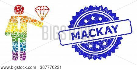 Spectrum Vibrant Vector Groom Diamond Collage For Lgbt, And Mackay Unclean Rosette Stamp Seal. Blue