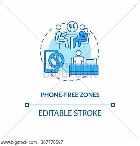 Phone-free Zones Concept Icon. Parental Control Element Idea Thin Line Illustration. Healthy Lifesty