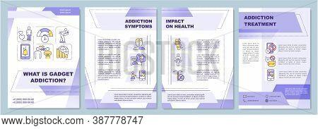 Gadget Addiction Symptoms Brochure Template. Health Impact. Treatment. Flyer, Booklet, Leaflet Print