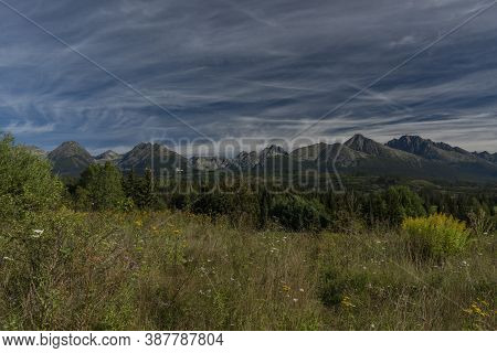 Rock Hills In Vysoke Tatry Mountains In Slovakia In Summer Sunny Day