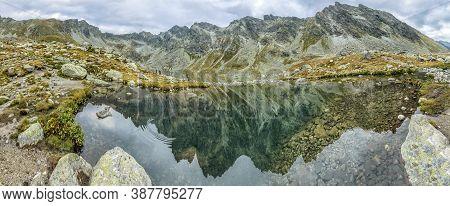 Great Hincovo Tarn, Mengusovska Valley, High Tatras Mountains, Slovak Republic. Hiking Theme. Travel