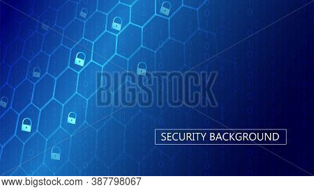 Cyber Security Concept. Personal Data Protection. Secure Connection Whith Binary Code. Analysis Of I
