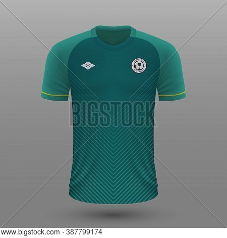 Realistic Soccer Shirt , Bolivia Home Jersey Template For Footba
