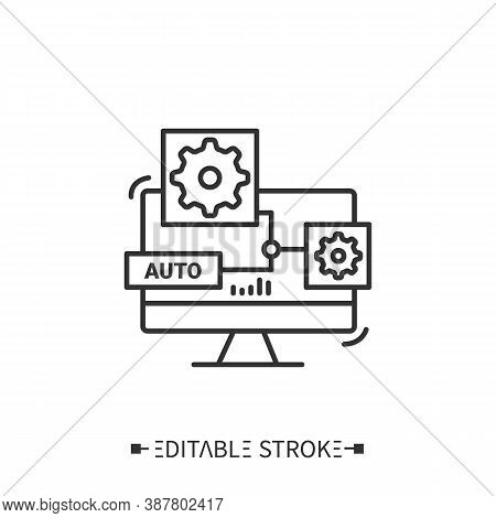 Computer Aided Design Line Icon. Cad. Automated Product Engineering. Smart Engineering.production Mo