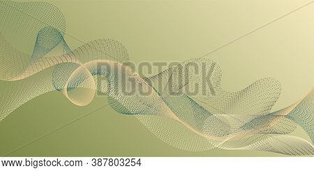 Fiber Lines Geometric Simple Background. Scientific Researches Dynamic Curves Web Trendy Background.