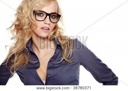 Business theme: beautiful businesswoman