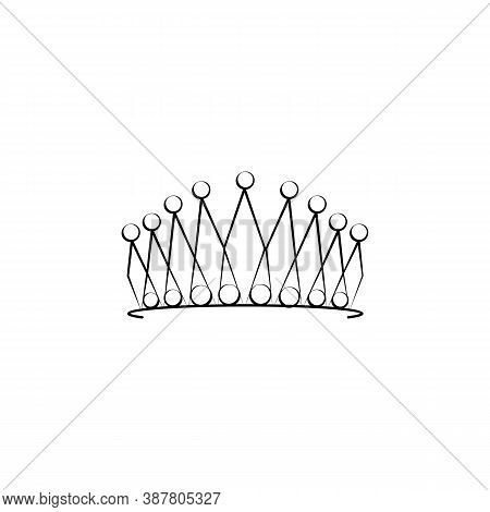 Crown, Diadem, Woman Line Icon. Signs And Symbols Can Be Used For Web, Logo, Mobile App, Ui, Ux