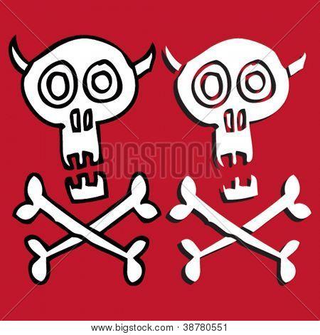 skull and crossbones doodles