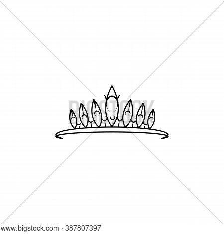 Crown, Diadem Line Icon. Signs And Symbols Can Be Used For Web, Logo, Mobile App, Ui, Ux