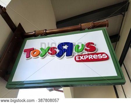 Honolulu - September 29, 2017: Toys R Us Express Sign In Ala Moana Shopping Center.