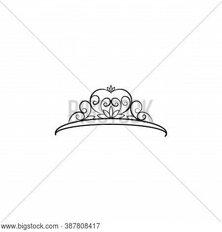 Diadem, Woman, Crown Line Icon. Signs And Symbols Can Be Used For Web, Logo, Mobile App, Ui, Ux