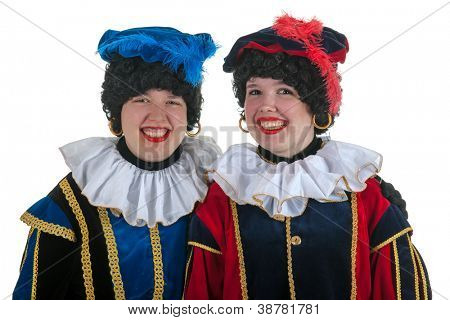 Dutch characters as white petes for typical Sinterklaas holidays in portrait poster