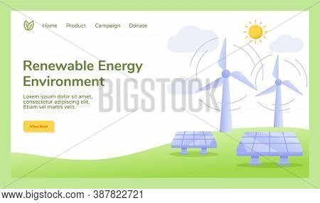 Renewable Energy Environment Wind Solar Cell Power Energy Campaign For Web Website Home Homepage Tem