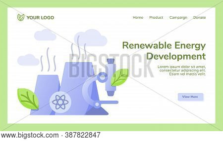 Renewable Energy Development Reactor Nuclear Power Station Microscope Campaign For Web Website Home