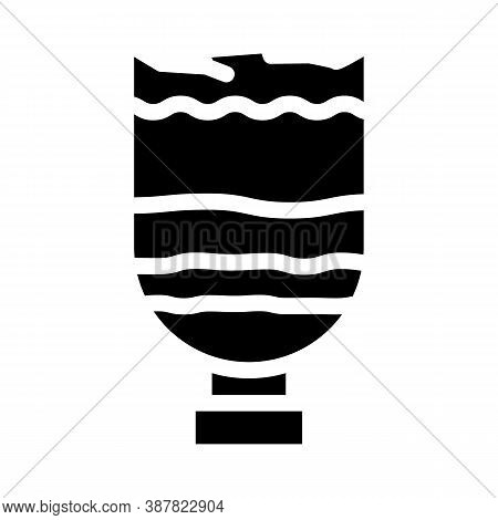 Water Filtration Through Sand And Coal Glyph Icon Vector Illustration