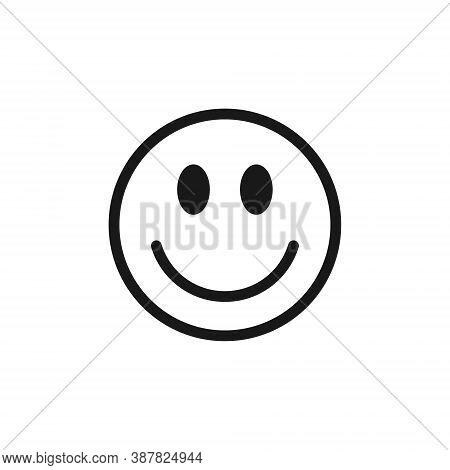 Smiling Face Emoji Icon Vector. Smile Symbol Sign. Simple Flat Shape Happy Emotion Logo. Isolated On