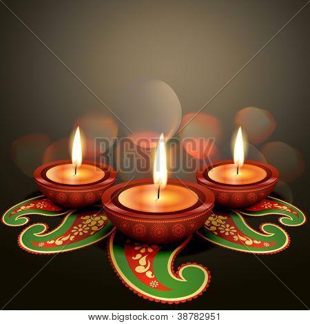 indian festival diwali vector background
