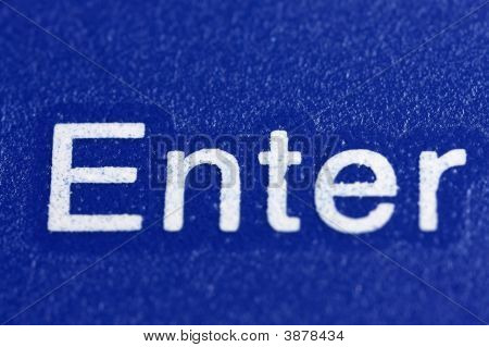 Enter Key With Blue Background
