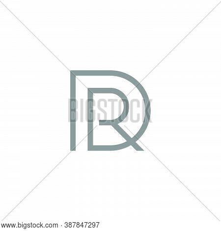 Simple Geometric Logo Of A Letter R Inside A Letter D