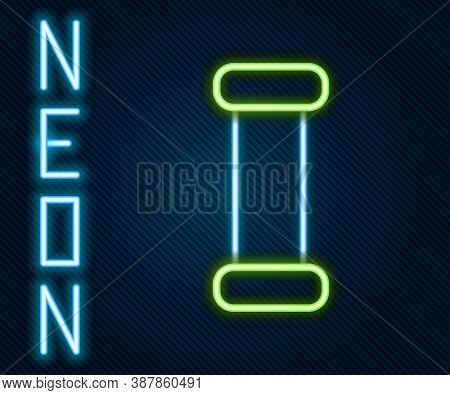 Glowing Neon Line Industry Metallic Pipe Icon Isolated On Black Background. Plumbing Pipeline Parts