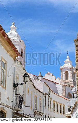 View Along R Henrique Correia Da Silver Street Towards Santo Antonio Church Bell Tower (igreja De Sa