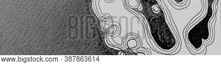 Abstract Mark Scribble. Panoramic Distress Texture. Handmade Doodles. Graphic Graffiti. Light Scribb