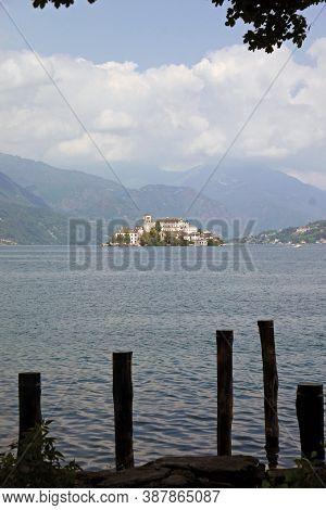 San Giulio Isle, Orta Lake, Piedmont, Italy