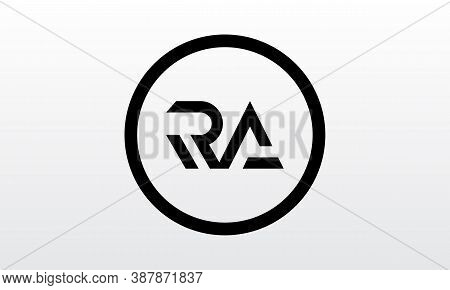Initial Ra Letter Logo With Creative Modern Business Typography Vector Template. Creative Letter Ra