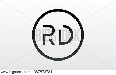 Initial Rd Letter Logo With Creative Modern Business Typography Vector Template. Creative Letter Rd