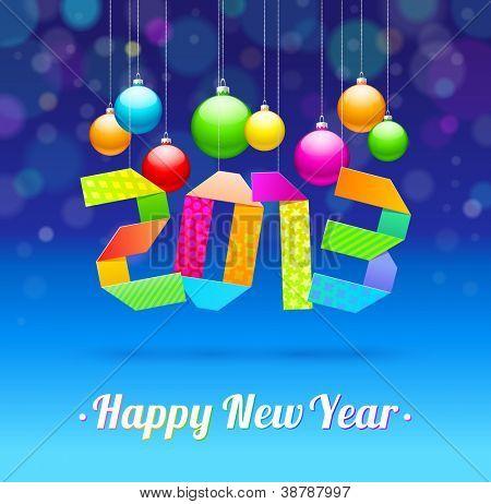 Happy New Year 2013 - holidays vector illustration
