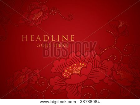 vector of abstract chinese new year graphic and background