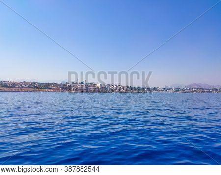 Sharm El Sheikh, Egypt - September 9, 2020: The View From Sea Of Hotel Sheraton Sharm Hotel, Resort,