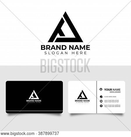 Ta Initial Letter Icon Logo With Business Card Vector Design Template