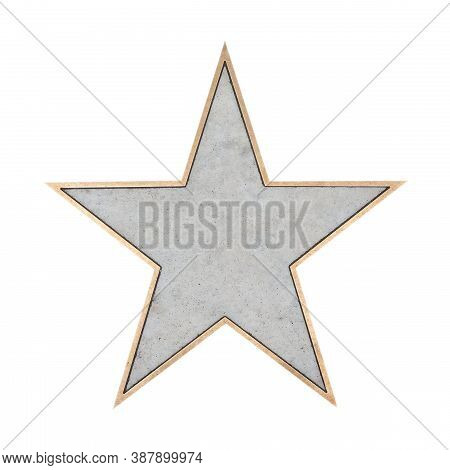 Blank Walk Of Fame Star Isolated Over White