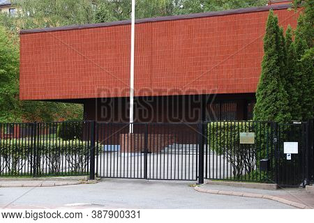 Gothenburg, Sweden - August 27, 2018: Consulate General Of Russian Federation In Gothenburg City, Sw