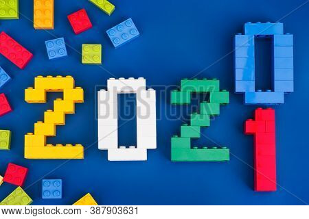 Tambov, Russian Federation - August 26, 2020 Lego New Year Concept. The Year 2020 Becoming The Year