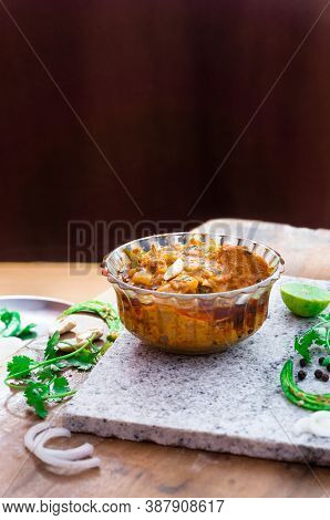 Chicken Tikka Masala In A Bowl Focused On The Masala And Kept Background Out Of Focus
