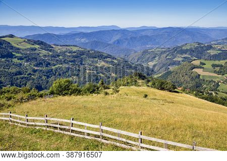 Kapija Podrinja Viewpoint In Western Serbia On The Beginning Of The Tara Mountain In Serbia.