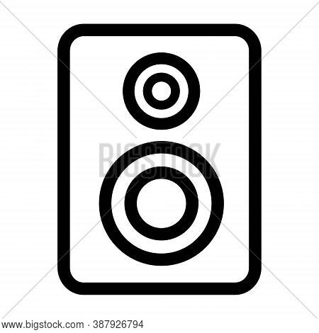 Sound System Icon Illustration. Bass Music Speakers Symbol.