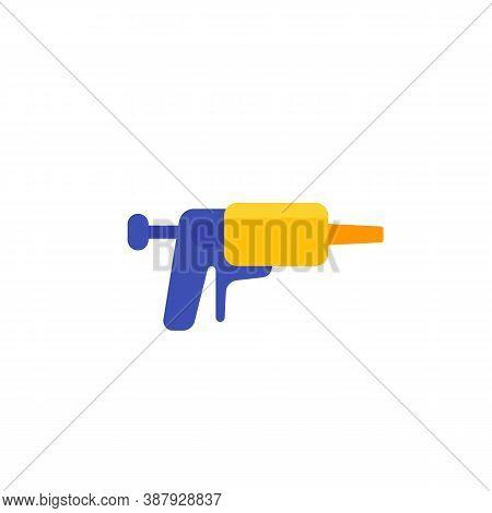 Silicone Caulk Gun Icon, Flat, Eps 10 File, Easy To Edit