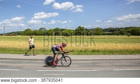 Bourgoin-jallieu, France - 07, May, 2017: The Belgian Cyclist Sander Armee Of Lotto-soudal Team Ridi